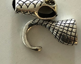 Silver Snack Leather Clasp 4.5 cm