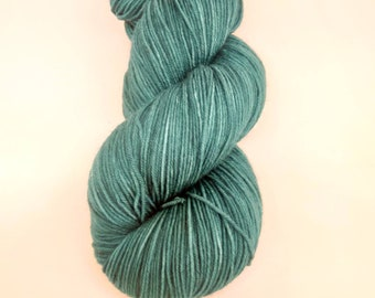 Hand Dyed Sock Yarn // Keeping it Real (in Teal) //100g Strawberry Fields Yarns