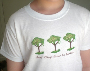 Children's TShirt, Toddler Graphic Tee - 'Good Things Grow in Buffalo'