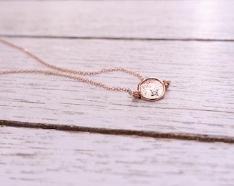 Rose Gold Necklace + Rose Gold Disc Necklace + Sideways Necklace + Coin Necklace + Hammered Disc Necklace + CZ necklace + Delicate Necklace