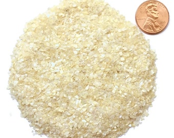 Crushed Mother of Pearl, Bleached, Medium, 1/2 Ounce