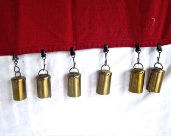 Handmade Repurpose Cylinder Bell Table Cloth Christmas Holiday Weights Handmade Indoor Outdoor Picnic Table Cloth Weight Decor Dining Decor