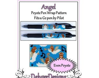 Peyote Beading Pattern (Pen Wrap/Cover)-Angel