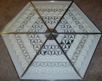 Greg Copeland Signed 1973 Set of Six ABSTRACT 3D White Paper Art, MCM Pop Art