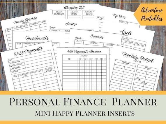 Haushalt Binder persönliche Finanzen Planner Bundle für die