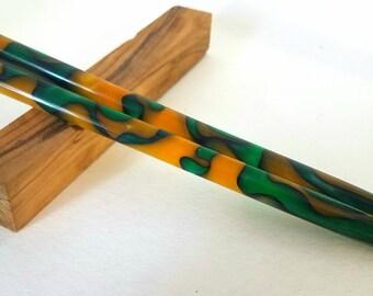 Lemon Lime acrylic hair sticks (choose 1 or more)