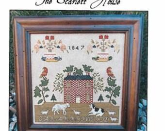 NEW! SCARLETT HOUSE Sarah Hopwood 1847 counted cross stitch patterns at thecottageneedle.com 2018 Nashville Market