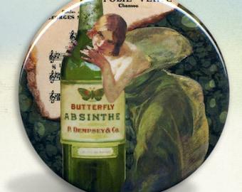 Absinthe Green Fairy Pocket Mirror