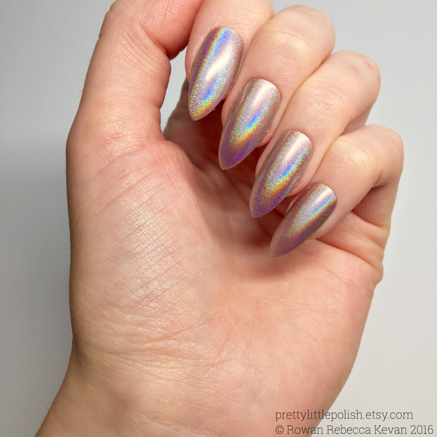 Rose gold unicorn chrome powder nails Unicorn chrome powder