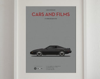 Knight Rider tv series car poster, art print A3 Cars And Films, home decor prints, illustration print