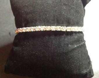 1 row rhinestone bracelet
