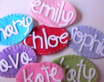 Name Felt Personalized Hair Clip
