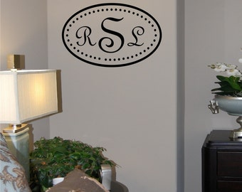 Oval Dot Monogram - Vinyl Wall Decal