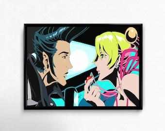 redline JP X Sonoshee from the Red Line Manga Anime art prints poster