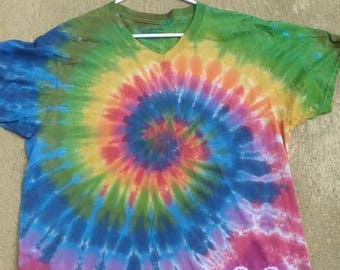 Adult 1xL swirl with heart tie dye