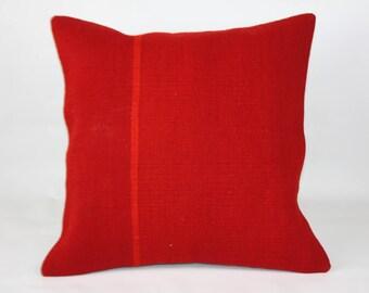 Kilim Pillow , (20x20) İnches 50x50 Cm , Carpet Pillow , Vintage Pillow ,Kilim Rug ,Pillow ,Boho Pillow , Antique Pillow , Decorative Pillow