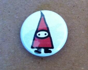 "Gnome Pinback Button 1"" Size"