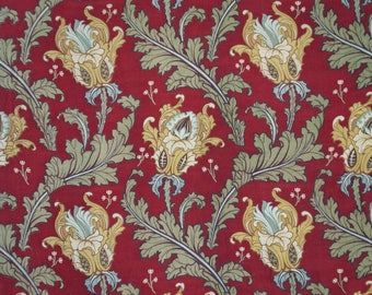Dramatic French Art Nouveau antique fabric w artichokes