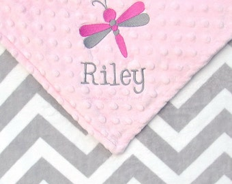 Personalized Baby Blanket - Chevron Baby Toddler Blanket , You Design ZigZag Blanket , Ash Grey , 30x36