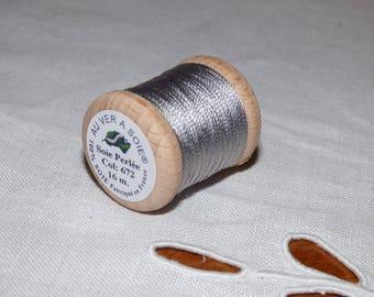 Spool of 16 meters of beaded silk number 672