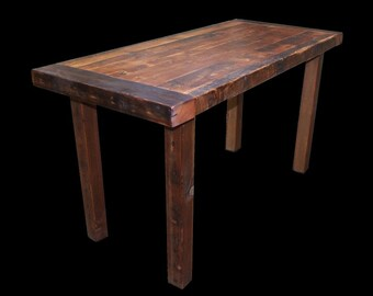 Reclaimed Wood Counter Height Dining Table