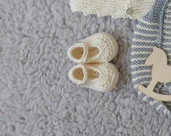 cotton merino baby booties
