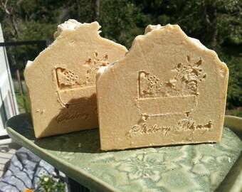 Goat Milk soap bar with  10x orange essential oil