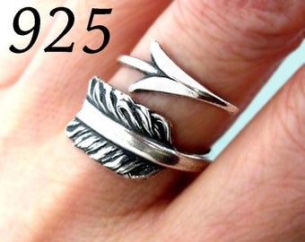 Arrow ring Unique Sterling Silver Jewelry Adjustable ring Sterling silver ring archery Large ring gift for her jewelry handmade  R-018-224
