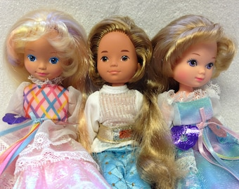 Vintage Lady Lovely Locks ~3 Dolls~ Prince Strongheart, Maiden Fairhair and Lady Lovely Locks
