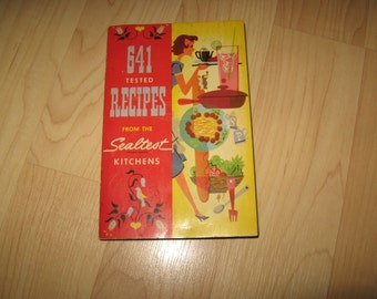Sealtest Mid Century Cookbook - Vintage 1954 National Dairy Products Recipe Book