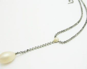 Incredible Old Ivory pearl antique necklace