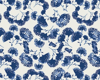 Indigo & Aster - Foliage Escape Lapis - Bari J. - Art Gallery Fabrics - Fabric By the Half Yard