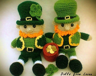Saint Patrick's Day Leprechaun Crochet Doll St. Patrick's Day Gift Ideas Green Clover Patrick's Day Clover Gift Will be made JUST FOR YOU