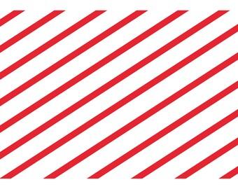 Candy Cane Stripe A4 Vellum