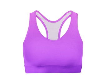 Pink Purple Ombre Sports Bra