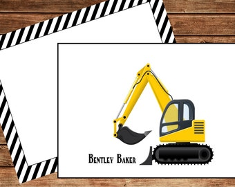 Digger Personalized Note Cards