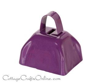 "Purple Cow Bell,  2.8"" x 3"" Jingle Bell - Darice Craft, Christmas, Mardi Gras, Halloween Craft Supply, Embellishment, Sleigh Bell"