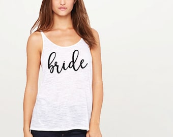 Bride Tank Tops | Wedding Tank Top | Bachelorette Tanks | Bride Tribe Tank | Bride Tank | Bride Shirt | Bridal Party Tanks | Bride shirts
