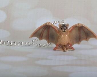 Bat Necklace - Halloween- Bat Jewelry - Bat -Bat Pendant - Handmade Necklace By Frenchtutu - Bat Necklace - Halloween Jewelry - Vampire Bat