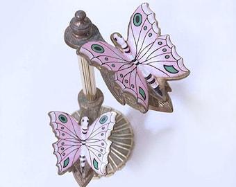 Vintage butterfly calling card holder