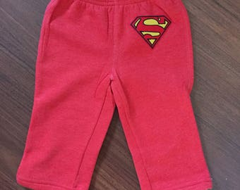 Superman inspired baby boy pants