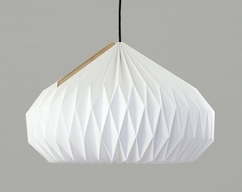 Textile Lampshade * Bell * large, hand-folded origami lamp shade