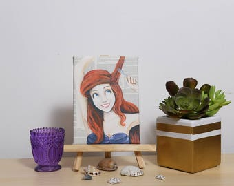 Mini Canvas of Ariel from The Little Mermaid