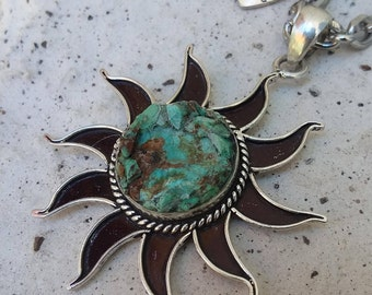 Sun Necklace~Turquoise Jewelry~Beach  Jewelry
