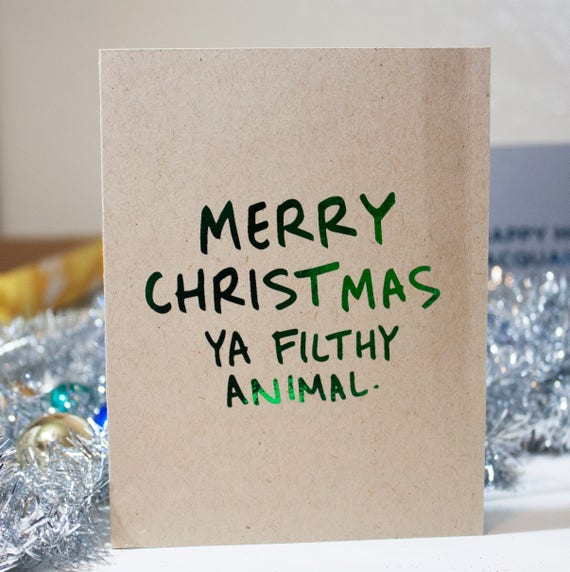 Home Alone Card / Funny Christmas Card / Home Alone Quote /