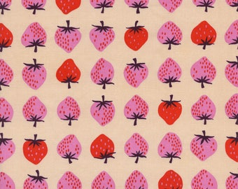 Cotton + Steel Fabric, Strawberry, K3040-001 Peach, Kim Kight, 100% Cotton