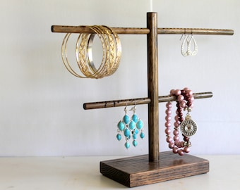 Earring Organizer, Earring Display, Earring Rack, Long Earring Holder, Retail Fixture, Craft Show Display, Hooks Hoops & Stud Earring Stand