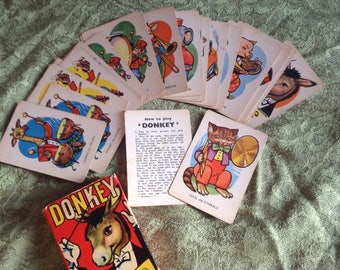 Vintage donkey card game.