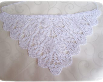 Feminine handcrochet head scarf, Cotton hair kerchief, women accessories, Crochet lace accessories,  lacy summer hat, fits many sizes