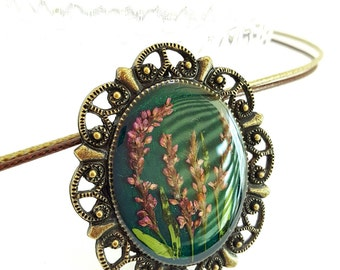 Real flower, pressed flowers nacklace, broach,pressed flowers jewelry,Water Pepper